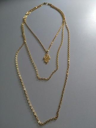 altın sarısı zincir kolye