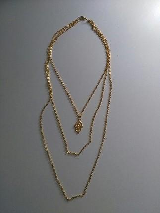 Accessorize altın sarısı zincir kolye