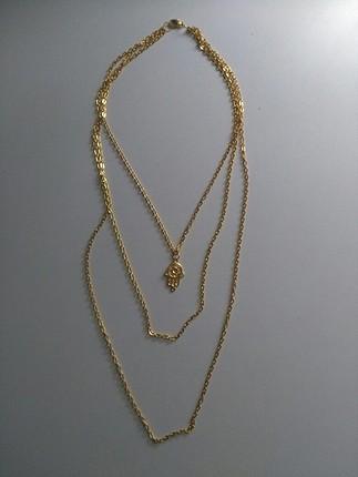 universal Beden altın Renk altın sarısı zincir kolye