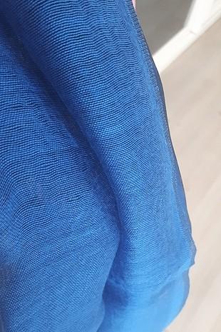 universal Beden mavi Renk tül şal