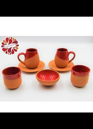 Çömlek yapımı fincan takımı