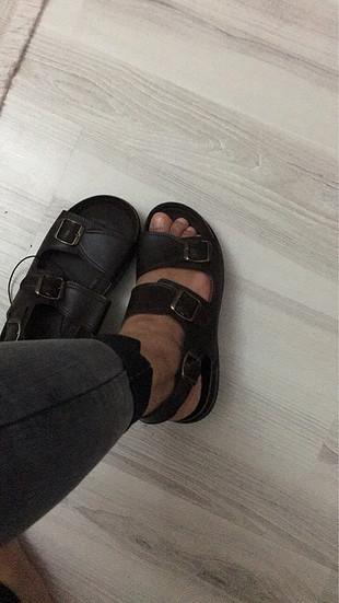 Sıfır deri sandalet