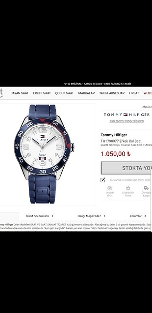 Tommy Hilfiger erkek saatı