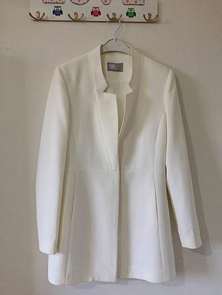 m Beden Beyaz blazer ceket