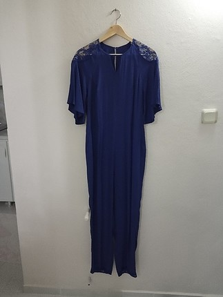 42 Beden mavi Renk Uzun tulum