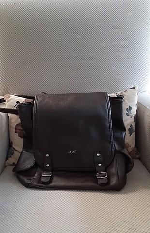 mango deri sırt çantası