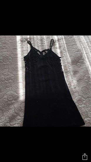 Triko elbise sırt dekolteli