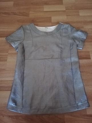 koton gümüş parlak tişört