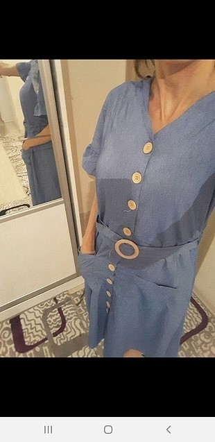 Zara mavi elbisee