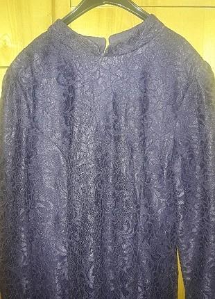 fransız dantel murdum elbise