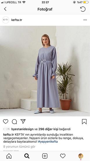 KEFTA marka elbise. İnce bi kumaşı vardır bi kaç kere rengini se