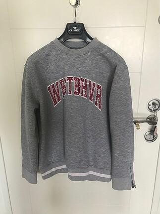 Gri Orjinal Sweatshirt