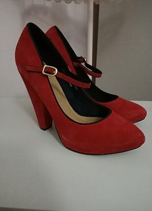 Twist Kırmızı Süet Ayakkabı