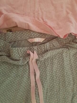 l Beden pembe Renk Pijama Takımı
