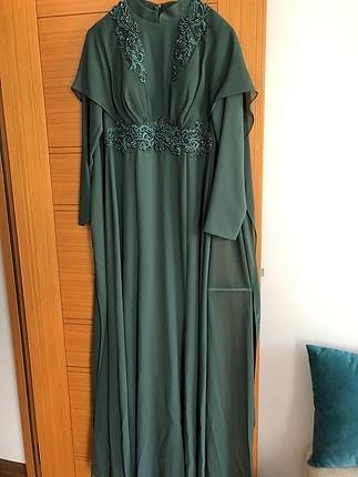 38 Beden yeşil Renk Yeşil abiye