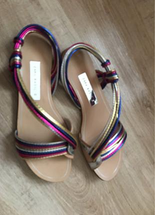 36 Beden Renkli sandalet
