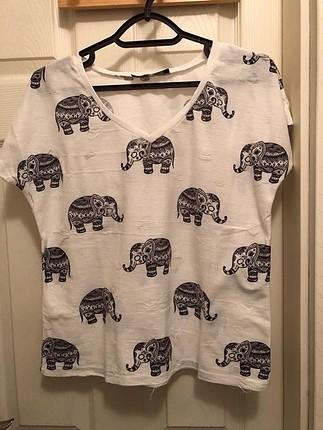 fil desenli tshirt