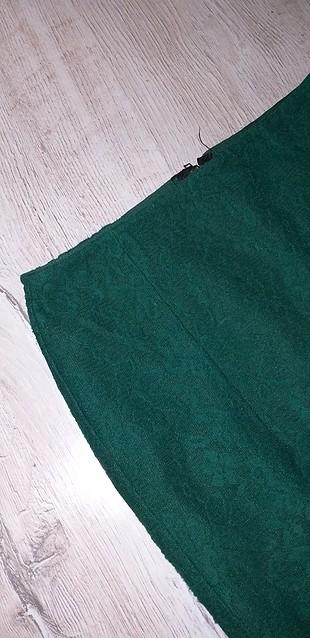 s Beden yeşil Renk dantel etek