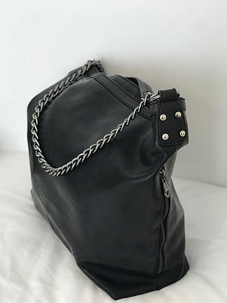 Zara Siyah deri kol çantası