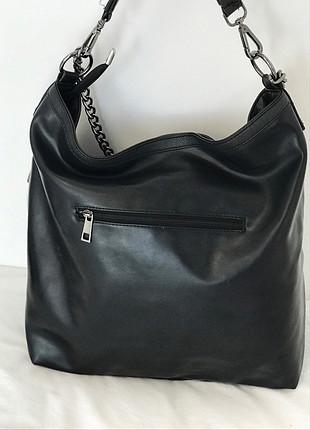 universal Beden siyah Renk Siyah deri kol çantası