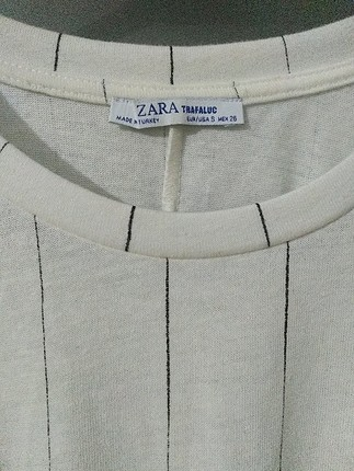 s Beden beyaz Renk Zara Çizgili Elbise