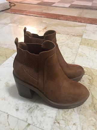 Tertemiz taba rengi topuklu botıe