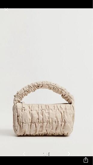 Büzgülü keten çanta