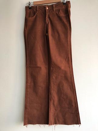 Kahverengi kot pantolon