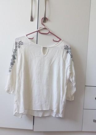 etnik desenli bluz