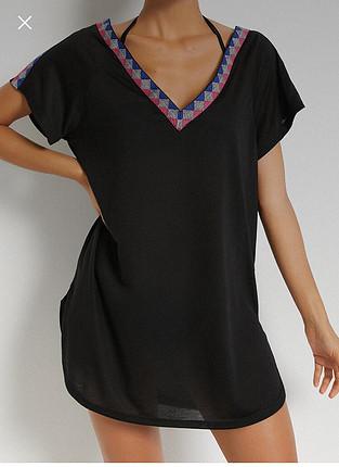 s Beden siyah Renk Plaj elbisesi