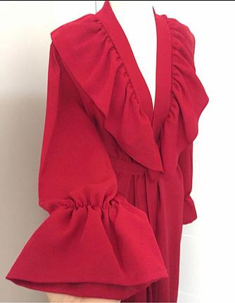 38 Beden kırmızı Renk Kırmızı kimono