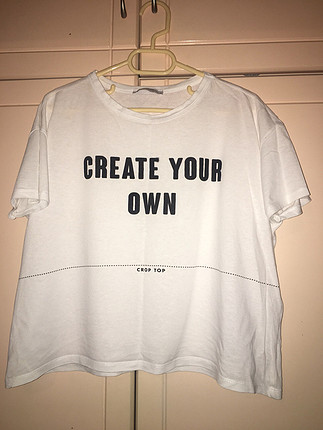 Zara basic baskılı tişört