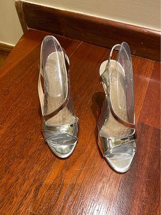 Nine West lame gercek deri abiye ayakkabi