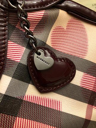 diğer Beden bordo Renk Burberry Nova Check Heart Canta