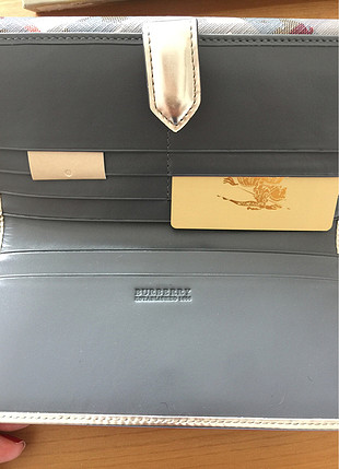 Burberry Nova check star continental cuzdan