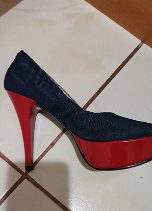 Kot kumaşlı ayakkabı