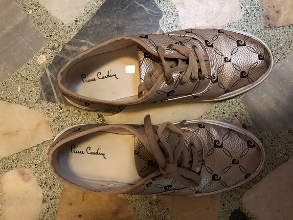 Pierre cardin altın rengi spor ayakkabı