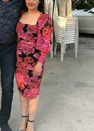 Trendyol milla çiçekli elbise