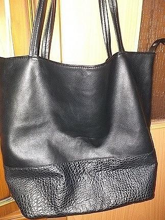 m Beden sıfır siyah geniş kol çantası