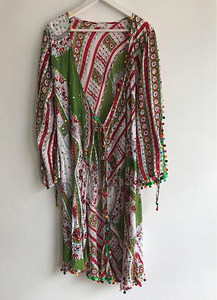 Pul işlemeli kimono