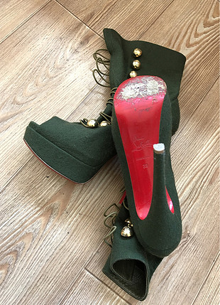 39 Beden Koyu yeşil platform ayakkabı