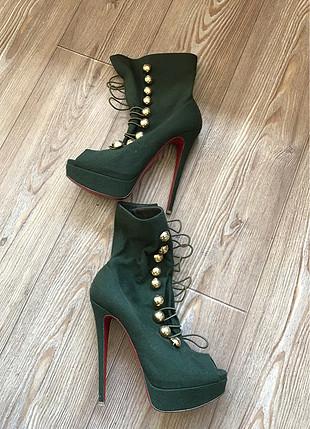 39 Beden yeşil Renk Koyu yeşil platform ayakkabı