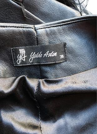 36 Beden siyah Renk Püskül detaylı deri ceket