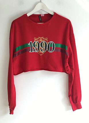 m Beden kırmızı Renk Kırmızı sweatshirt
