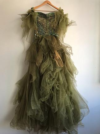 diğer Beden yeşil Renk Nişan elbisesi