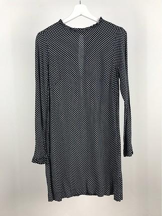 Puantiyeli Şifon Elbise