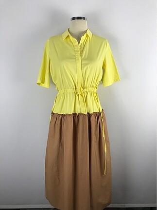 İki renk gömlek Elbise