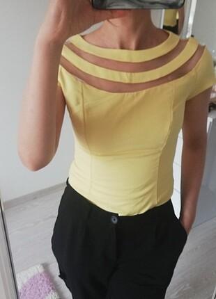 Sarı lefon bluz