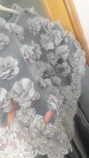 38 Beden gri Renk pelerinli uzun elbise