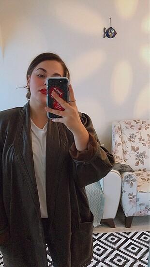 Vintage Deri Ceket